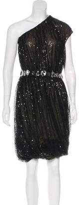 Naeem Khan Silk Embellished Dress
