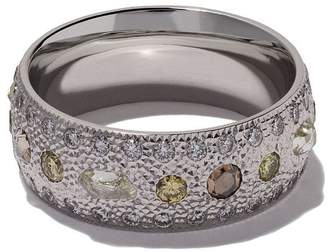 De Beers 18kt white gold Talisman diamond band