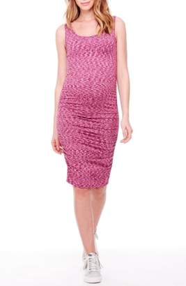 Ingrid & Isabel R) Space Dye Ruched Maternity Tank Dress