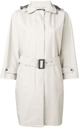 Herno belted hooded coat