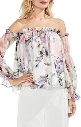 Vince Camuto Off the Shoulder Diffused Floral Peasant Blouse