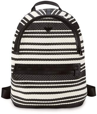 Giorgio Armani Woven Leather Backpack - Bianco-nero