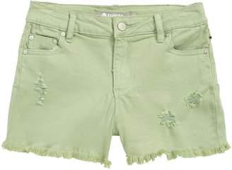 Tractr Fray Hem Denim Shorts