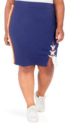Justice Poetic Wilma Lace-Up Pencil Skirt