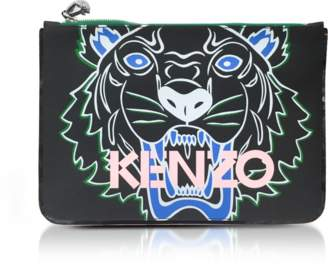 Kenzo A4 Coated Canvas Tiger Clutch