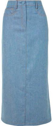 Agnona Wool And Cashmere-blend Midi Skirt - Blue