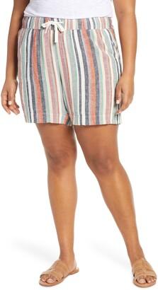 Caslon Stripe Linen Shorts