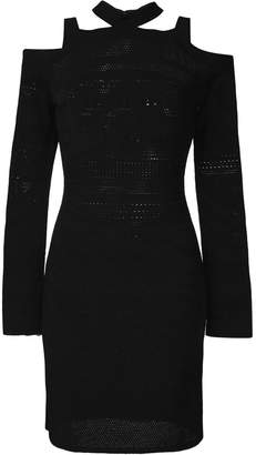 Roberto Cavalli cold shoulder dress