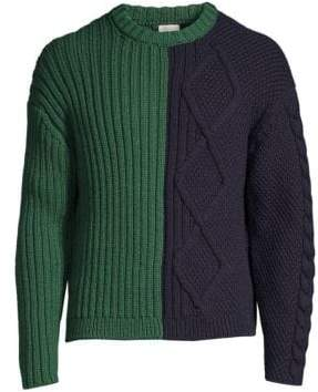 Paul Smith Ribbed Cable-Knit Wool Sweater