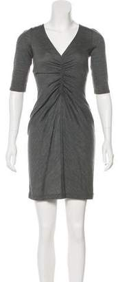 Halston V-Neck Mini Dress