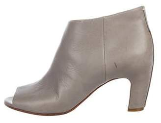 Maison Margiela Leather Peep-Toe Booties