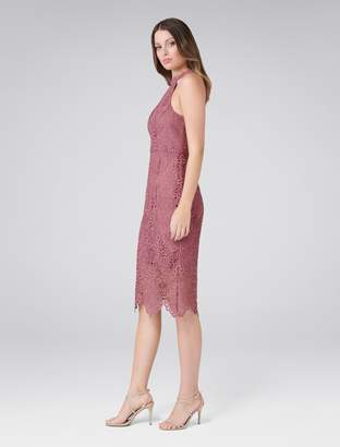 Forever New Beverley Lace Pencil Dress - Regal Mauve - 4
