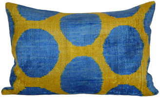Orientalist Home Lya Ikat 16x24 Pillow - Yellow