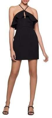 BCBGeneration Sleeveless Ruffled Halter Dress