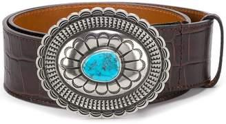 Etro stone embellished belt