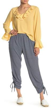 Cynthia Steffe CeCe by Garden Geo Ruched Ankle Pants