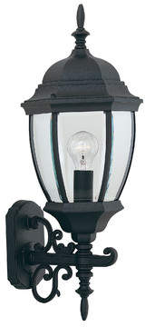 Three Posts Thornhill 1-Light Glass Shaded Outdoor Wall lantern