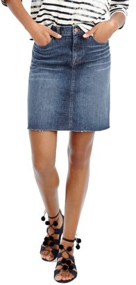 Women's J.crew Raw Hem Denim Miniskirt $69.50 thestylecure.com