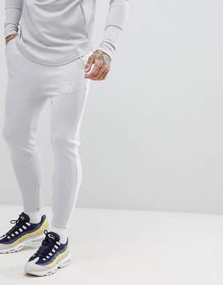 SikSilk skinny joggers in gray