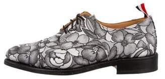 Thom Browne Floral Cap-Toe Oxfords
