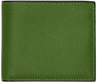 Valextra Green 6CC Wallet