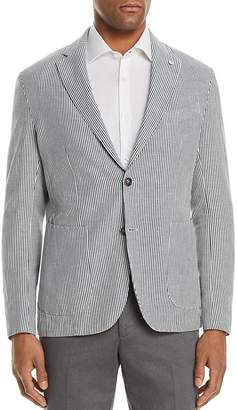 L.B.M Shirt Stripe Cotton & Linen Slim Fit Sport Coat