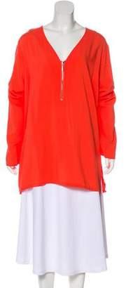 MICHAEL Michael Kors Woven Long Sleeve Top