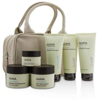 Ahava NEW Hydrating Beauty Case Set: Cleansing Gel 100ml+Mud Mask 6pcs+1bag