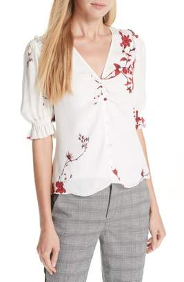 Joie Anevy Floral Silk Top