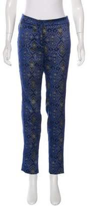 Wes Gordon Jacquard Skinny-Leg Pants