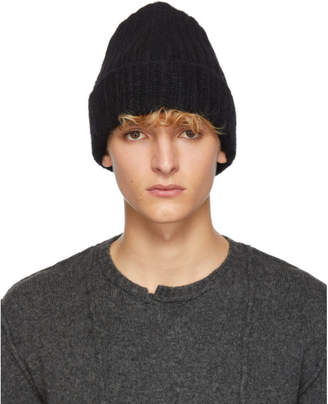 Isabel Benenato Black Knit Beanie