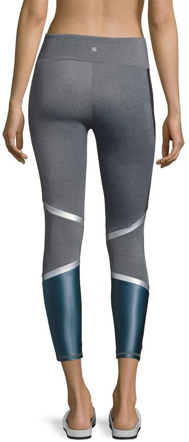 Lanston Lennox Combo Back-Panel Leggings, Purple/Blue