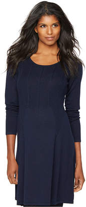 Design History Maternity Cable-Knit Sweater Dress $128 thestylecure.com