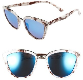 Women's Bp. 57Mm Cat Eye Sunglasses - White Marble $12 thestylecure.com