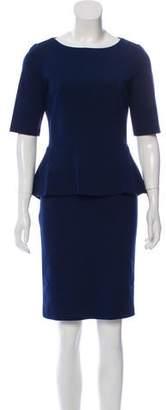 Lafayette 148 Peplum Knee-Length Dress