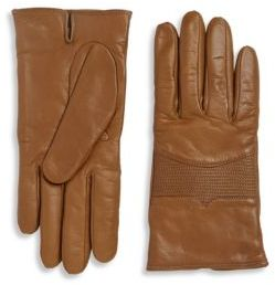 Portolano Leather Stitched Palm Patch Gloves $198 thestylecure.com