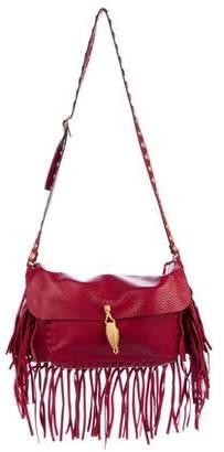 Valentino C-Rockee Scarab Fringe Shoulder Bag