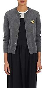 Comme des Garcons Women's Wool Cardigan Sweater - Gray