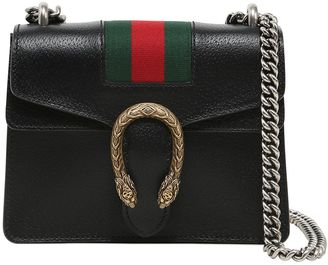 Gucci Mini Dionysus Leather Bag W/ Web Detail