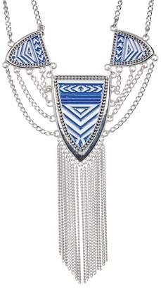 Jessica Simpson Pattern & Tassel Detail Pendant Necklace