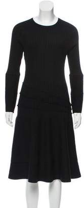 Michael Kors Rib Knit A-Line Dress
