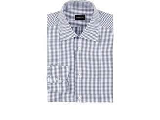 Ermenegildo Zegna Men's Grid Cotton Dress Shirt