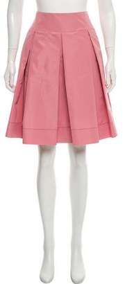 Prada Silk Blend Knee-Length Skirt