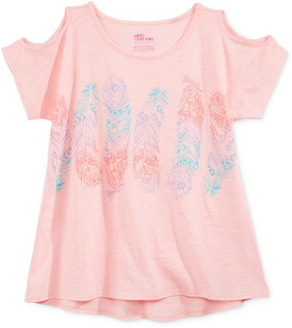 Epic Threads Cold-Shoulder Feathers Top, Big Girls (7-16), Only at Macy's $18 thestylecure.com