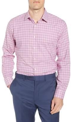 Nordstrom Tech-Smart Trim Fit Stretch Windowpane Dress Shirt