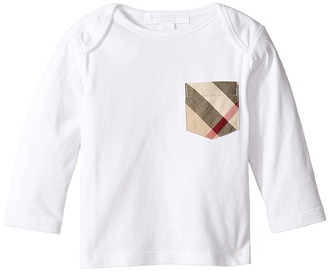 Burberry Kids - Long Sleeve Tee w/ Check Pocket Boy's T Shirt $70 thestylecure.com