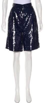 Tibi Sequin Knee-Length Shorts