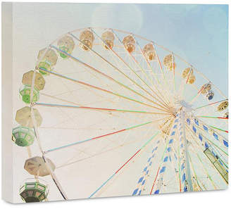 "Deny Designs Happee Monkee Ferris Wheel 16"" x 20"" Canvas Wall Art"