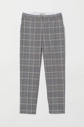 H&M Patterned cigarette trousers - Gray