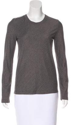 Maison Margiela Long Sleeve Scoop Neck Top